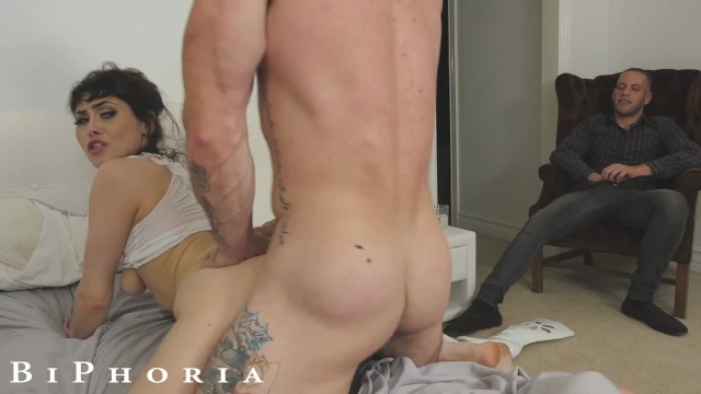 Swingers az Biphoria - man joins couple fucking at swingers party