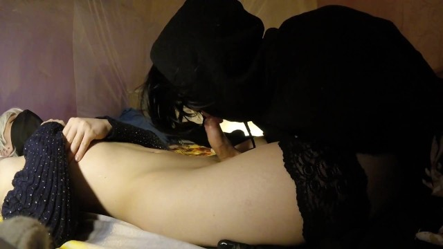 I GIVE A BLOWJOB TO SISSY NEKO FEMBOY AND SWALLOW HER CUM