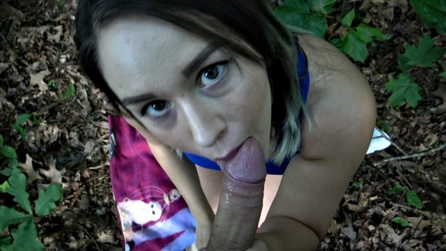 Risky business - sex scene clip Risky outdoor blowjob off of busy hiking trail