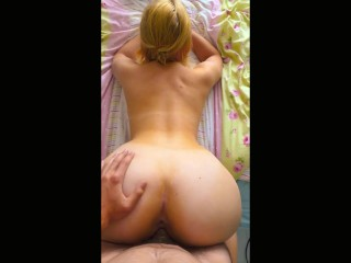 UK Lad + Big Ass Blonde = Lovely Banging
