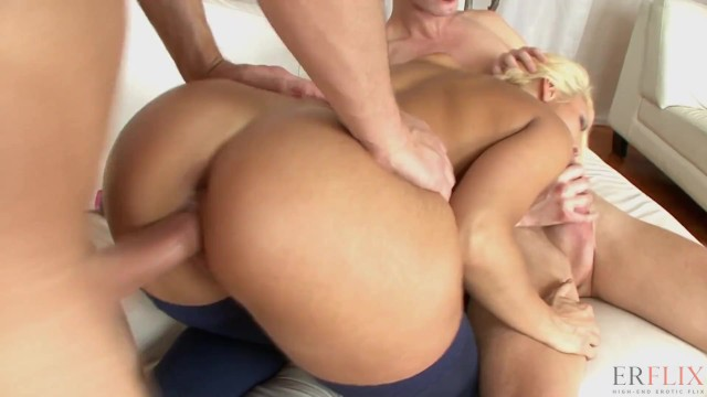 Blonde Wife Taking Double Dick 2