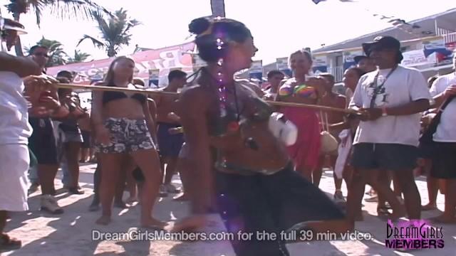 Sexy Florida Bartenders Party & Flash In Skimpy Bikinis 9
