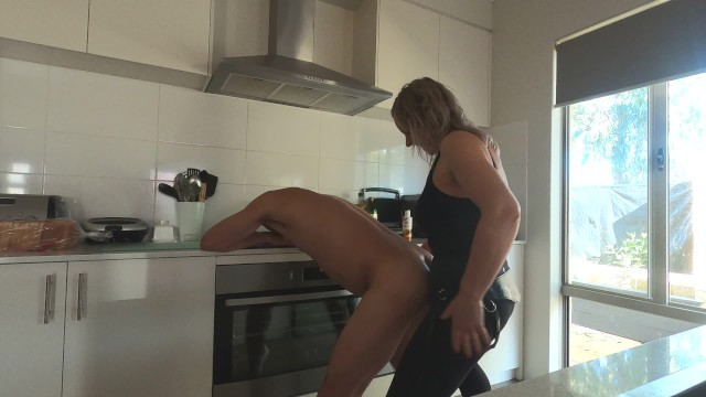 Porn m hre Cooking up a cum facial with hard strapon kitchen fuck - min moo