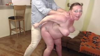 Almost Induced Bent Over 9 Months Pregnant Wife Fucked Hard Cum In Mouth and CumSwap