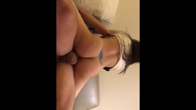Boyfriend creampies his sexy petite girlfriend - Amateur couple fuck 4