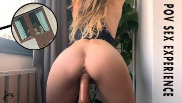 HOT BABE SEDUCES YOU INTO FUCKING HER WHILE NEIGHBOURS WATCH POV  LaraJuicy