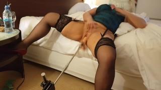 FuckMachine INSANE Masturbation and SCREAMING Orgasms - Nympho MILF Amateur Wife