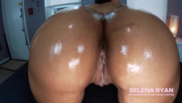 Best JOI Ever: Giant Latina Ass Oiled Dildo Ride 4K - SelenaRyan