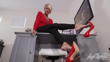 Under My Dangling Red Heels JOI - Nikki Ashton