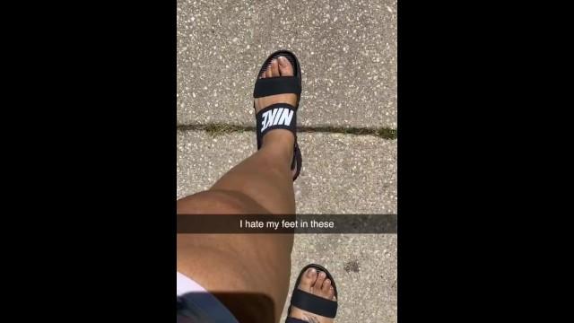 Ebony feet on Snap Chat 7