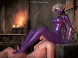 3d porn fallen throne queen nualia masturbation...