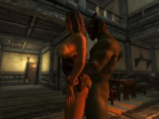 Orc fuck wench skyrim...