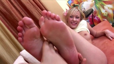 Cute Blonde With Blue Eyes Gets Assfucked