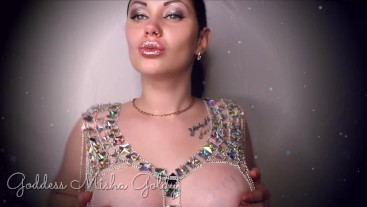 You can't resist My shiny full lips and breast! JOI