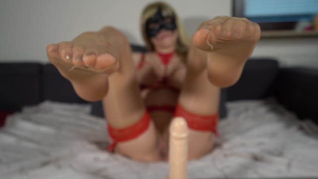 Anal stretching instructions Jerk of instruction - jerk your cock to my nylon feet and cum all over them