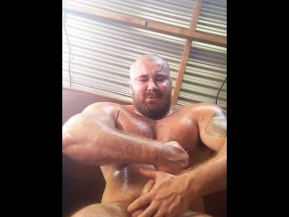 Giant dick bodybuilder sweaty norton...