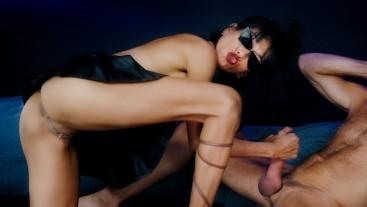 Insatiable Desires Of Ravena Rey Dressed In HighHeels & SunGlasses