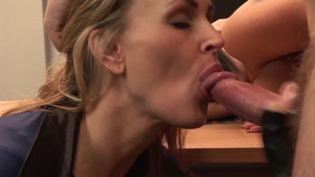 Busty Officer Enjoy Threesome Fucking With Big Tit Criminal and Jail Guard 6