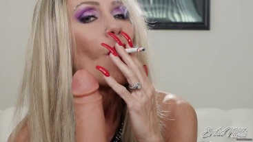 Smoking Red Lips On Your Dick - Nikki Ashton