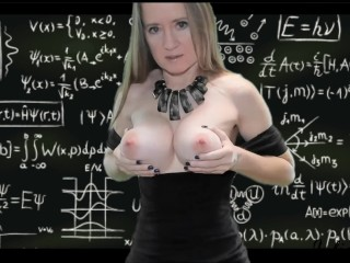 Naughty Teacher Breast Play JOI