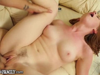 Hot Teen Catches Her Perv Step-Bro Smelling Her Dirty Panties