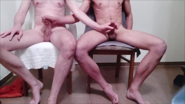 Masturbating each other
