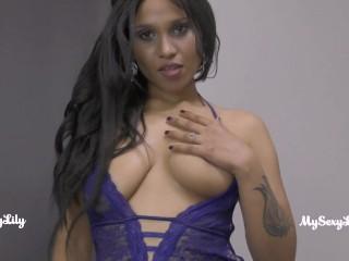 Having hardsex in blue lingerie seducing her lover...