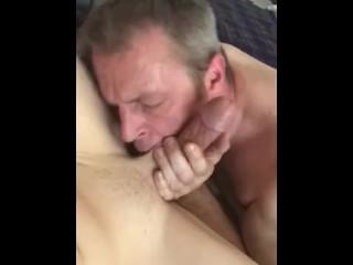 Sucks twinky bottom and swallows huge load...
