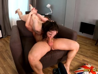 Girl monica gets ass fucked hard first time...