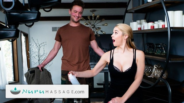 NuruMassage Sarah Vandella Gives A Pounding Gift To Her Military Stepson