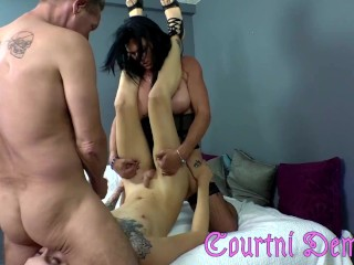 Mature shemale couple fuck sissy w rianna james...