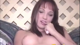 ED POWERS - Teen Charlie Laine Plays With Her Tight Pussy