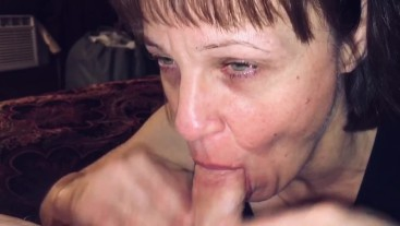 POV Mature cougar love's sucking & swallowing every drop
