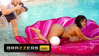 Brazzers - Curvy hot Ms Yummy after photoshoot taste a big white cock