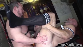 HAIRYANDRAW Eric Schwanz Bent Over And Smashed By Daddy