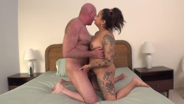 kingsley gets fucked and creampied by an older man