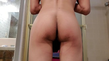 Spying on friend undress in shower mirror cam