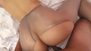 Curvy sexy milf fuck in pantyhose squirt and cum