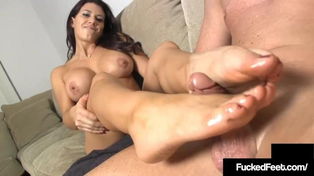 Leena big black tits Tan brunette leena sky gets her hot feet worshiped fucked