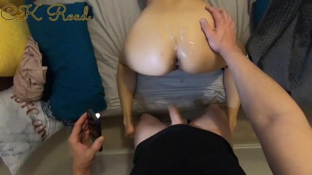 MILF Gives Blowjob And Make My Big Uncut Dick Cum Too Fast - CK Road - Pov 5