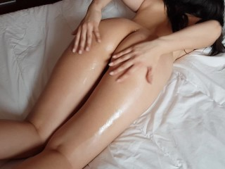 Covered In Cum After I Only Asked For A Massage Footjob