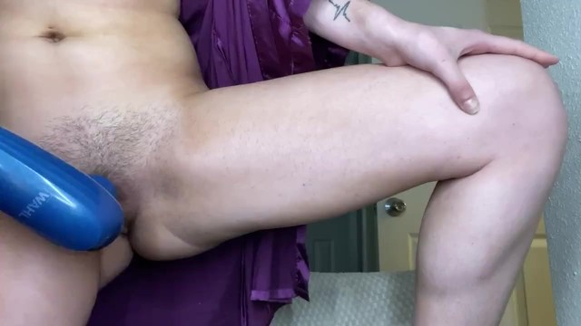 pawg uses vibrator in doggy position 6