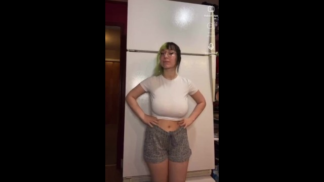 Adult clip uncensored video Bigtittygothegg fridge video nsfw