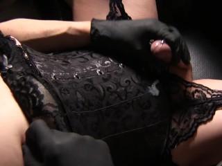 Wear a corset and jerk off japanese cumshot...
