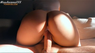 Amateur Babe Passionately Rides Cock - CREAMPIE - Cowgirl/Squat Riding