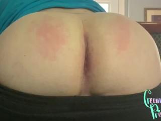 Big booty home alone gets spanked hard...