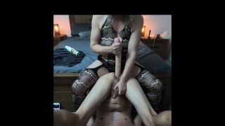 She just loves stuffing his ass with the big double ender dildo - MIN MOO