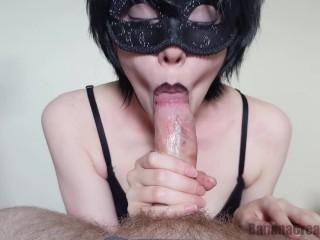 Masked Goth Girl Pov Blowjob