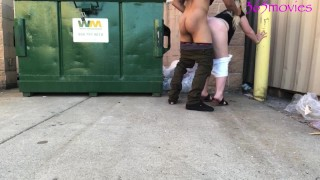 FUCKED MY BOSS WIFE BEHIND DUMPSTER ON LUNCH BREAK NO CONDOM MONDAY