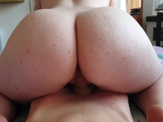 Big Ass Babe Rides And Lets Him Cum In Her Mouth Like A Good Girl